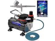 GRAVITY Dual-Action AIRBRUSH KIT SET Air Compressor Spray Auto Paint Hobby Craft 9SIA12E0K74878