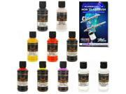 House of Kolor 4oz 9 BASES & COLOR KIT, KANDY, PEARL & SOLID Basecoat Paint