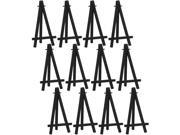 US Art Supply 6 Small Black Plastic Easels Pack of 12 Easels Displays