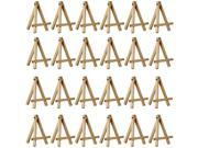 """24 Pack of US Art Supply® 5"""" Mini Wood Display Easel Natural Wood Finish Picture"""