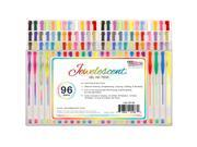 US Art Supply Jewelescent - 96 Gel Pen Set Vibrant Colors Classic, Glitter, Metallic, Neon, Pastel & Swirl Colors