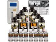 Raptor Pewter Metallic Urethane Spray On Truck Bed Liner Roller Tray Brush 8 Liters