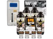 Raptor Bright Silver Urethane Spray On Truck Bed Liner Roller Tray Brush4 Liters