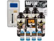 Raptor Safety Blue Urethane Spray On Truck Bed Liner Roller Tray Brush 4 Liters