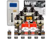 Raptor Charcoal Metallic Urethane Spray On Truck Bed Liner Roller Kit 6 Liters