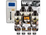 Raptor Charcoal Metallic Urethane Spray On Truck Bed Liner Roller Tray Brush 4 Liters