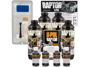 Raptor Black Metallic Urethane Spray On Truck Bed Liner Roller Kit 4 Liters