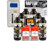 Raptor Tintable Urethane Spray On Truck Bed Liner Kit Tray Brush 6 Liters