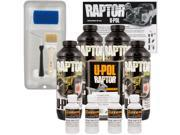 Raptor GM White Urethane Spray On Truck Bed Liner Kit Roller Tray Brush 4 Liters