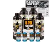 Raptor Blue Metallic Urethane Spray On Truck Bed Liner Texture Coating 4 Liters