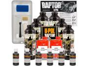 Raptor Black Metallic Urethane Spray On Truck Bed Liner Roller Kit 6 Liters