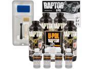 Raptor Dove Gray Urethane Spray On Truck Bed Liner Roller Tray Brush4 Liters