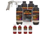 Bed Liner CUSTOM COAT BLOOD RED 4-L Urethane Spray-On Truck Kit w/ Spray Gun