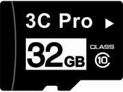 3C Pro 32GB 32G microSD microSDHC SD SDHC Card Class 10