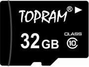 TOPRAM 32GB 32G microSD microSDHC micro SD Class 10 C10 Memory Card