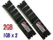 TOPRAM 2GB (1GB x 2) DDR 400 400MHz PC3200 DDR400 184 pin Desktop PC Memory DIMM RAM