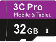 3C Pro 32GB 32G microSD microSDHC micro SD SDHC Card Class 10 Ultra High Speed UHS-I for Samsung Galaxy S3 S4