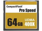 3C Pro 64GB CF 64G CompactFlash Card Extreme Speed UDMA6 RAW 400X