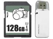 OEM 128GB SD SDHC 128GB SDXC Card Class 10 Ultra High Speed UHS-I for Camera & Camcorder with USB 3.0 Card Reader