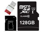 Major OEM 128GB microSDXC UHS-I 70MB/s Class 10 128G microSD micro SD SDXC Flash Memory C10 Card fit Samsung Galaxy S5 SONY Z2 with USB 2.0 Card Reader