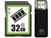 FilmPro 32GB SD 32GB SDHC Card Class 10 Extreme Speed for Camera & Camcorder +R3 Reader