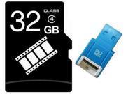 FilmPro 32GB 32G microSD microSDHC micro SD Class 4 C4 Memory Card +R10b Reader