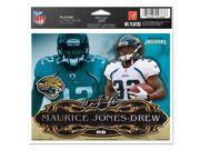 "Jacksonville Jaguars Official NFL 4.5""""x6"""" Car Window Cling Decal by Wincraft"" 9SIA12Y0EZ4892"