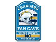 """San Diego Chargers Official NFL 17""""""""x11"""""""" Wood Sign by Wincraft"""" 9SIA12Y0935536"""