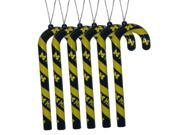 "Michigan Wolverines Official NCAA 5"""" Candy Cane Christmas Ornament Set by Forever Collectibles"" 9SIA12Y14U3587"