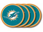 Miami Dolphins Official NFL Coaster Set by Duck House 481142 9SIA00Y4508117