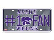 Kansas State Wildcats Official NCAA License Plate by Rico Industries 328337 9SIA00Y4505826