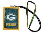 Green Bay Packers Official NFL Beaded Lanyard Wallet by Rico Industries 540890 9SIA12Y1N01436