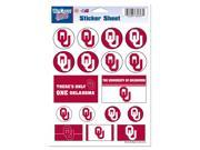 "Oklahoma Sooners Official NCAA 5""""x7"""" Sticker Sheet by Wincraft"" 9SIA12Y0N55310"