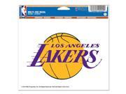 """Los Angeles Lakers Official NBA 4.5""""""""x6"""""""" Car Window Cling Decal by Wincraft"""" 9SIA12Y0AU1146"""