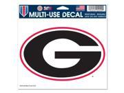 "Georgia Bulldogs Official NCAA 4.5""x6"" Car Window Cling Decal by Wincraft"