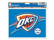 Oklahoma City Thunder Official NBA Window Cling Decal by Wincraft 9SIA12Y1GT5963