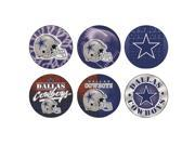 "Dallas Cowboys Official NFL 1.75"" wide each Button Set by Wincraft"