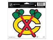 """Chicago Blackhawks Official NHL 4.5""""""""x6"""""""" Car Window Cling Decal by Wincraft"""" 9SIA12Y0AU6011"""