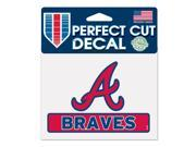 "Atlanta Braves Official 4""""x5"""" Die Cut Decal by Wincraft 17768014"" 9SIA12Y1F69811"