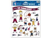 """Cleveland Cavaliers Official NBA 11""""""""x17"""""""" Family Car Decal by Wincraft"""" 9SIA12Y11R5129"""