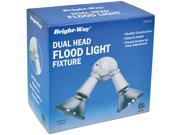 BRIGHT WAY 74230 Dual Head Outdoor Flood Light Fixture