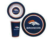 Denver Broncos Official NFL 16 pc Melamine Dish Set by Siskiyou 355615 9SIA8MJ6Z39118