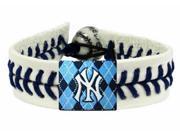 MLB New York Yankees Genuine Argyle Baseball Bracelet 049901 9SIA12Y3VR7856