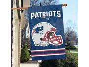 "NEW ENGLAND PATRIOTS 44""x28"" 2-SIDED BANNER FLAG AFNE"