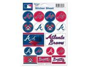 "Atlanta Braves Official MLB 5""""x7"""" Sticker Sheet by Wincraft"" 9SIA12Y0RC4367"