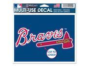 Atlanta Braves Official MLB Window Cling Decal by Wincraft 9SIA12Y1GT5884