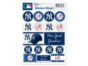 "New York Yankees Official MLB 5""""x7"""" Sticker Sheet by Wincraft"" 9SIA12Y0PT7897"