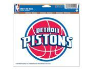 "Detroit Pistons Official NBA 4.5""""x6"""" Car Window Cling Decal by Wincraft"" 9SIA12Y1083717"