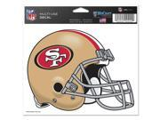 "San Francisco 49ers Official NFL 4.5""""x6"""" Car Window Cling Decal by Wincraft"" 9SIA12Y1063767"