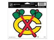"Chicago Blackhawks Official NHL 4.5""""x6"""" Car Window Cling Decal by Wincraft"" 9SIA12Y0AU6011"